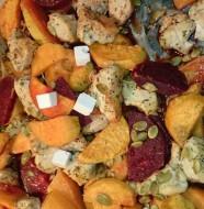 kyckling och sötpotatis